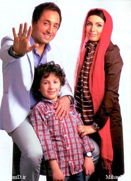 عکس امیرحسین رستمی و همسرش و فرزندش