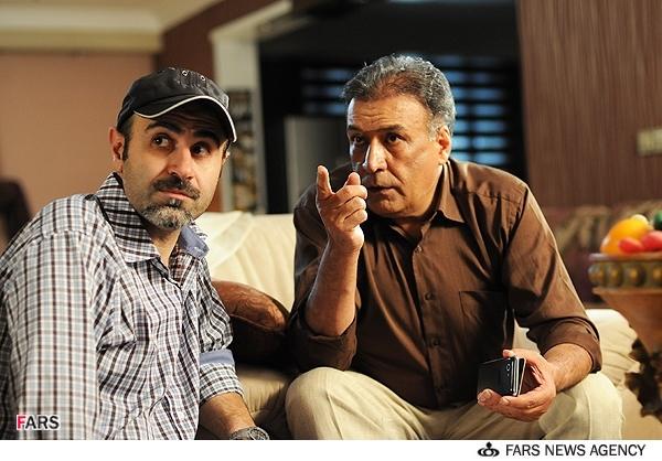 عکسهای فیلم تلویزیونی چهل | عبدالرضا اکبری و سعید جلیلی کارگردان فیلم چهل