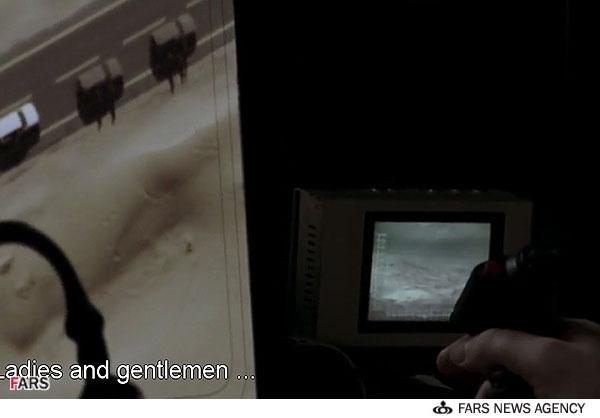 صحنه ترور شاهزاده ناصر از اتاق عملیات CIA توسط شلیک موشک از پهپاد در فیلم سیریانا