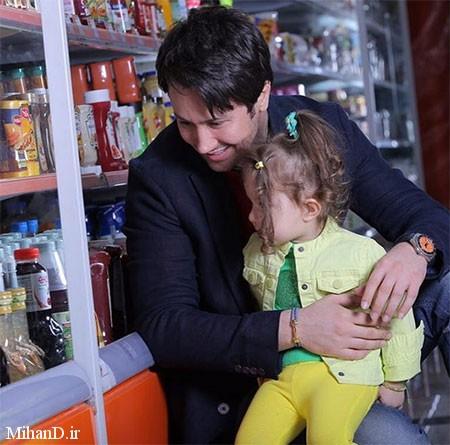 عکس شاهرخ استخری با دخترش